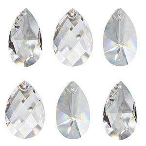 6 Pezzi Cristallo Parasole Cerata da Appendere Come Decorazione per Finestra Dondolo e Decorazioni di Natale Waldorf Feng Shui Cristallo 30 Cristallo di Piombo Set C