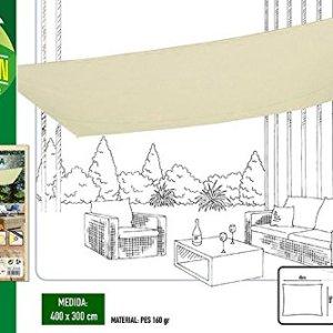 AKTIVE 53913  Gazebo a Vela Crema Rettangolare Bianco 300x400 cm