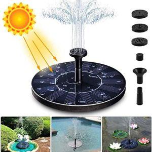 APSONAR Solare Fontana Pompa 14W Solare Pompe Laghetto Acqua con 4 Effetti Pompa ad Acqua Solare per Bagno di Uccelli Piccolo Stagno Giardino PiscinaB1