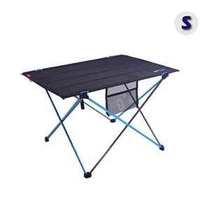 Azarxis Tavolo da Campeggio Pieghevole in Alluminio Tavolino da Barca Picnic BBQ Camping Spiaggia Giardino Pesca S  57 x 42 x 38cm