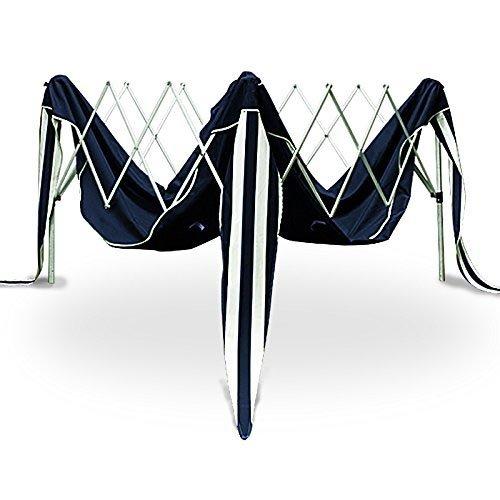 BAKAJI Gazebo 3x3 Mt Pieghevole Impermeabile Richiudibile 3 x 3 Tendone Giardino Telo Impermeabile Struttura Metallo Apertura e Chiusura a Fisarmonica Modello Ischia Blu