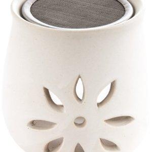 Berk KH280 Accessori per incenso  Bruciatore in Argilla con colino Design Fiore