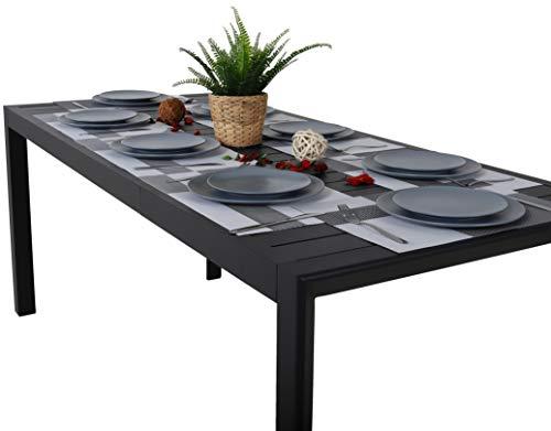 Chicreat Tavolo Da Giardino Allungabile Alluminio Colore Nero 127 180 X 77 X 71 5 Cm Arredamenti Per Il Giardino