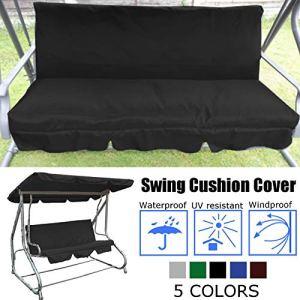 Copertura per cuscino dondolo impermeabile di ricambio per sedia a dondolo a 3 posti protezione per tutte le condizioni atmosferiche 60 x 60 x 10 cmSolo coprisedile