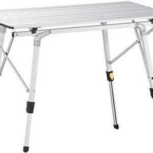 Nestling 91 x 52cm Tavolo Pieghevole da Campeggio in Alluminio Regolabile in Altezza Portatile da Tavolo da GiardinoBarbecueTour SelfDriving  Spalle Borsa 91 x 52cm