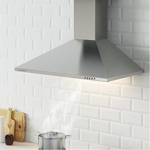Ciarra cappa con aspiratore da cucina 90cm in acciaio INOX argento