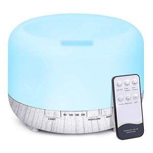 500ml Diffusore di Oli Essenziali con Telecomando Tenswall Ultrasuoni Umidificatore Diffusore di Aromi con 7 Colori LED per Yoga Spa Ufficio Casa