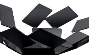 Alessi La Stanza dello Scirocco MT01 B Cestino di Design in Acciaio Colorato con Resina Epossidica Nero