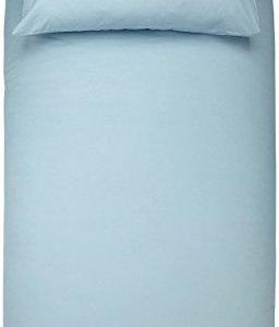 AmazonBasics  Set copripiumino in microfibra con federa 135 x 200 cm con una federa da 50 x 80 cm Blu spa