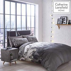 Catherine Lansfield Set Biancheria da letto in Policotone Matrimoniale 200 x 200 cm