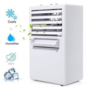 COMLIFE Aria Condizionata Portatile Climatizzatore Ventilatore da Tavolo 3 Velocit Silenziosa 3 in 1 di Nebbia Umidificatore Purificatore dAria