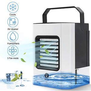 Condizionatore Daria Portatile Mini Air Cooler Personale Raffrescatore Evaporativo Umidificatore e Purificatore con 3 Velocit per Casa Ufficio Camper