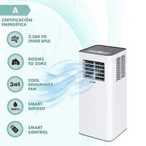 Mc Haus ARTIC26  Climatizzatore portatile 9000BTU pinguino classe energetica A ecologico 3 in 1 raffreddamento ventilazione e deumidificazione aria condizionata telecomando 25m2 bianco