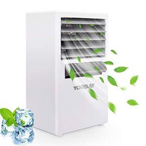 Yorbay Mini Condizionatore Portatile 3 Velocit 4 in 1 Raffrescatore Ventilatore Umidificatore Macchina per aromaterapiaper CasaUfficioCamper