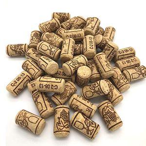 ysister 100 Pezzi Tappi in Sughero da Vino Tappi di Sughero Diritti per Il bricolage la Decorazione e lhobbisticaTappi di Bottiglia in Sughero NaturaleTappi da Vino Nuovo 21  40mm