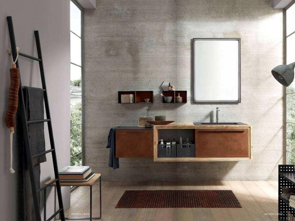 Da Domus Arredi a Lissone trovate tutta la linea di bagni in Industrial Style