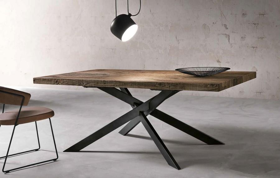 Il catalogo dei tavoli moderni di design al prezzo più basso del web,. Tavolo Moderno Dave In Legno E Struttura In Metallo