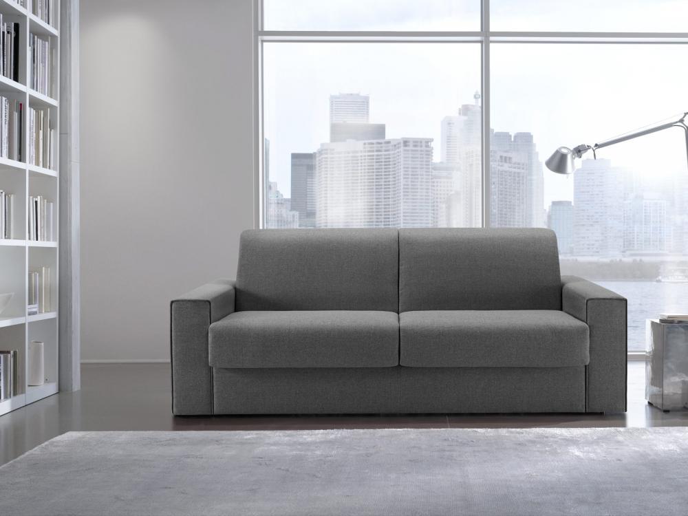 Divano letto Mick divano a 2 posti in tessuto completamente sfoderabile