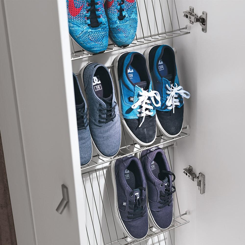 scarpiera per scarpe in melaminico bianco di Geromin