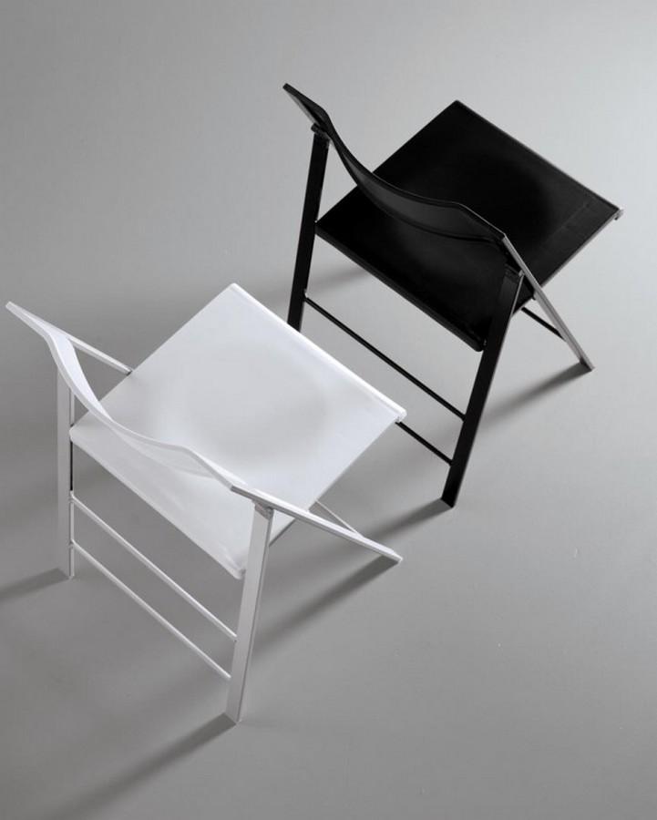 Sedia pieghevole Poket di Bontempi con seduta e schienale in polipropilene