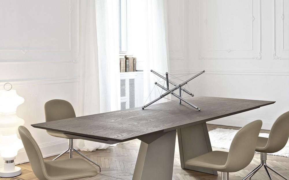 Tavolo fisso e allungabile Fiandre Bontempi piano in legno