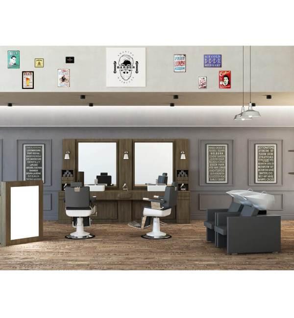 arredamento barbieri salone completo barber Retrò Vezzosi