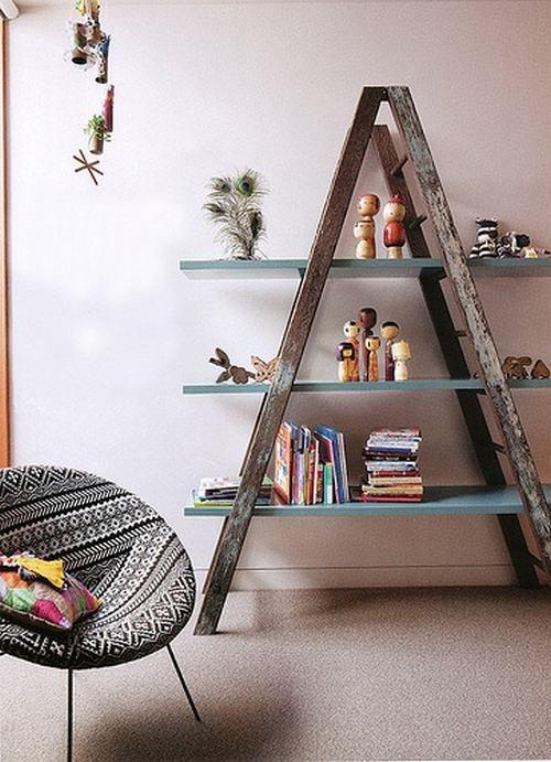 13 idee per arredare la casa con vecchie scale in stile Country e Shabby Chic  Arredamento