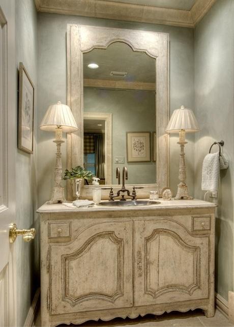 7 idee per un lavandino o lavabo Shabby Chic Provenzale o