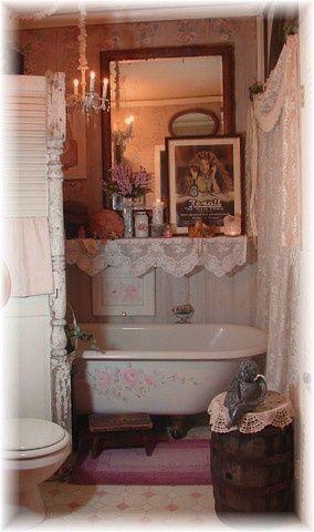 7 idee per un bagno romantico in stile Shabby Chic