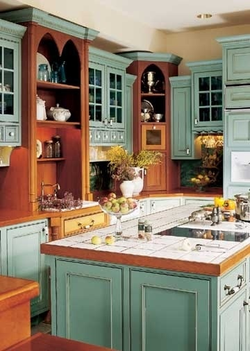 7 idee per rinnovare i colori della vostra cucina Shabby