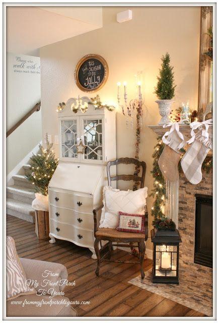 7 idee natalizie per il salotto in stile Shabby Chic Provenzale o Country  Arredamento Provenzale