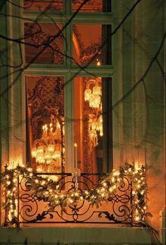 7 idee per decorare il balcone a Natale in stile Shabby