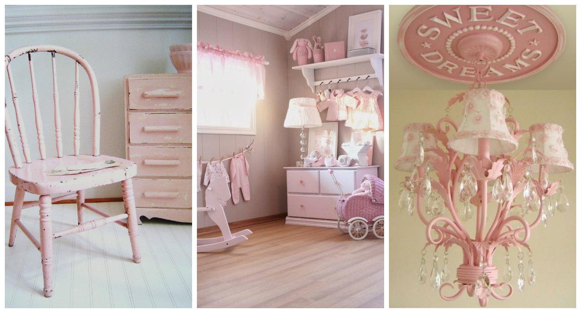 Il rosa per la camera delle bambine in stile Shabby Chic  Arredamento Provenzale