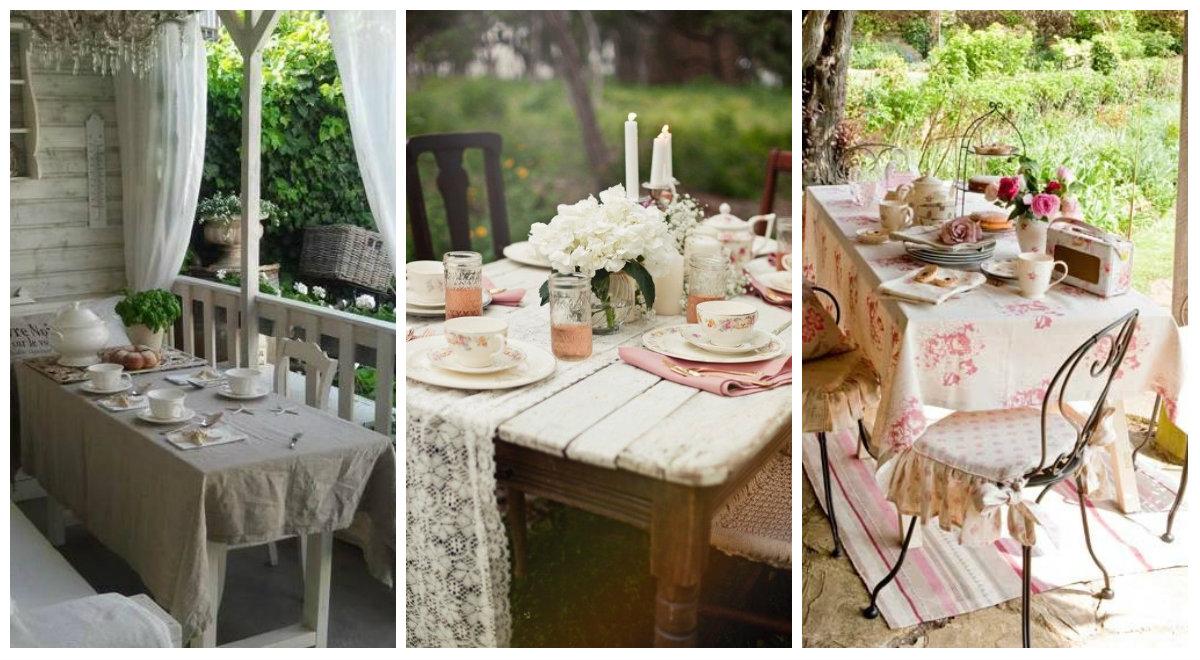 Facciamo colazione Shabby Chic in giardino  Arredamento Provenzale