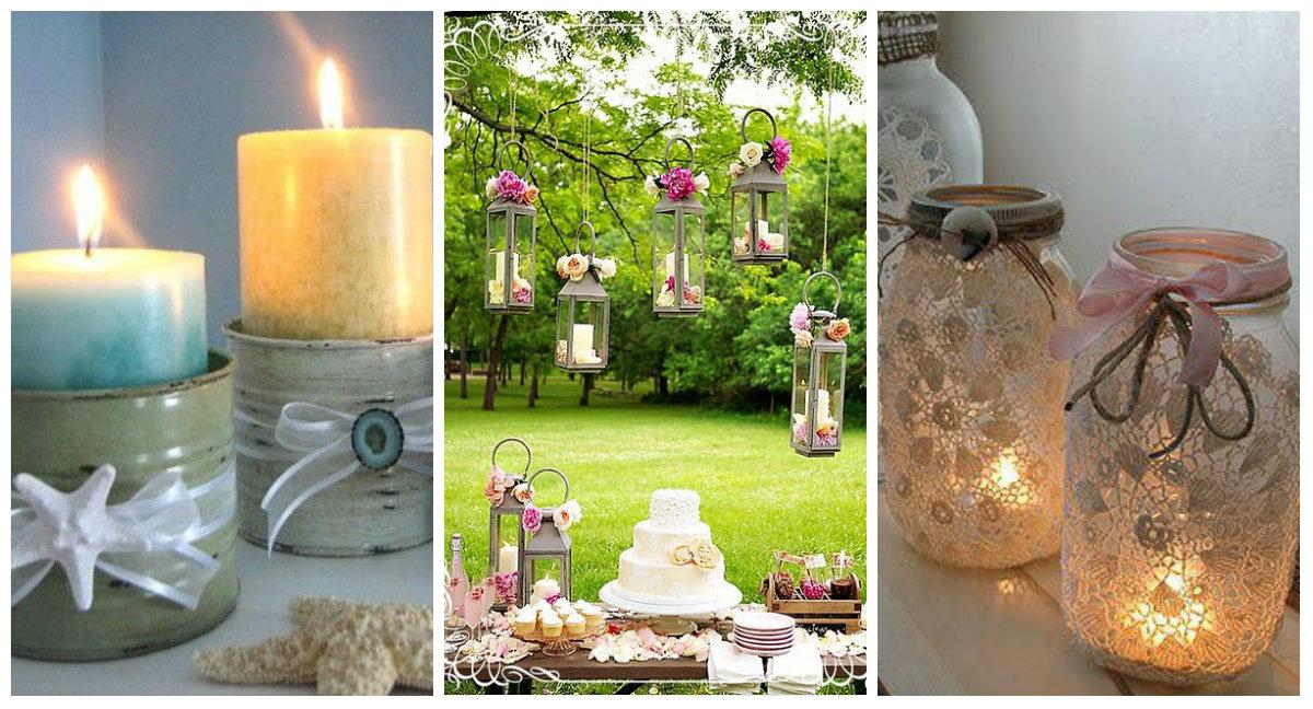 Alcune idee per dei porta candele creativi in stile Shabby Chic  Arredamento Provenzale