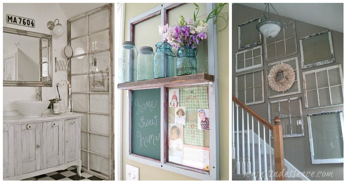 La vecchia finestra Ecco come riciclarla in stile Shabby