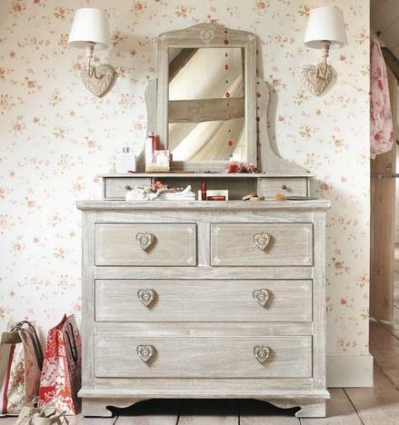 I dettagli della camera da letto Shabby Chic su Maison du