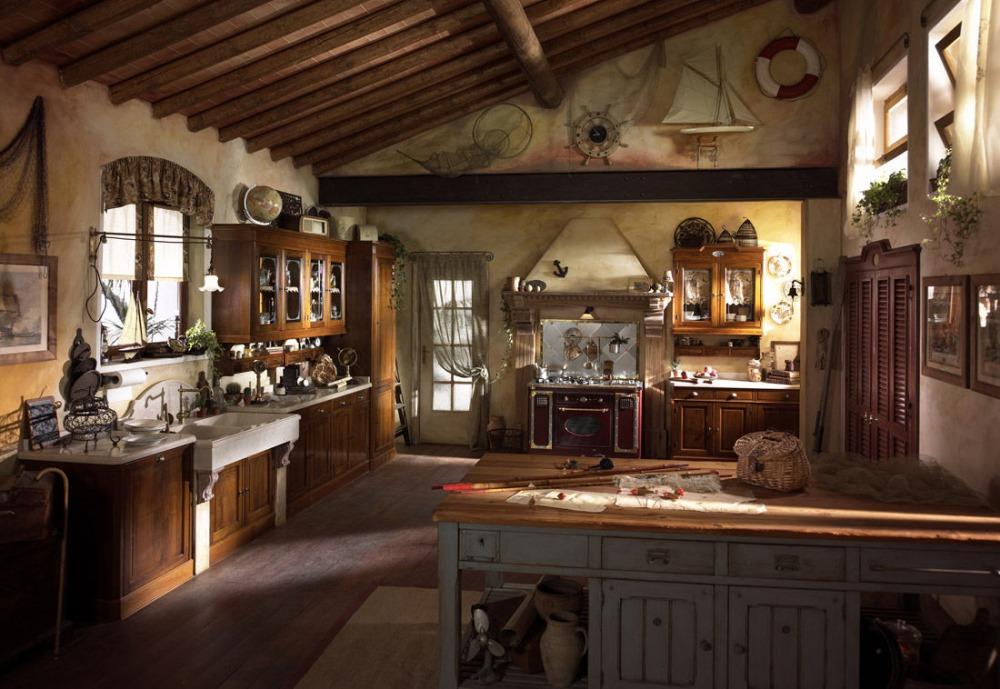 Lampadari rustici in legno in vendita in arredamento e casalinghi: Illuminazione Cucina Rustica Lampadario Punti Luce