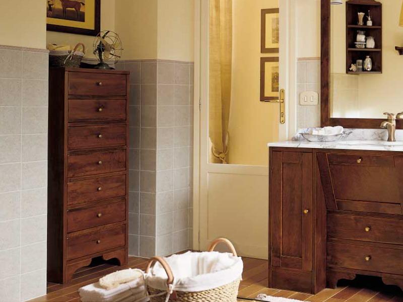 mobili bagno rustico legno ferro battuto