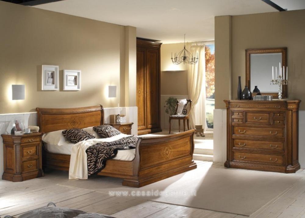 mobili rustici camera da letto legno ferro battuto