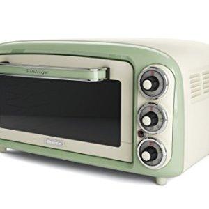 Ariete 979  Forno Elettrico di Design 18 Litri Idoneo per pizza da 30 cm 1380W 3 posizioni di cottura Timer 60 Acciaio Inossidabile Verde Pastello