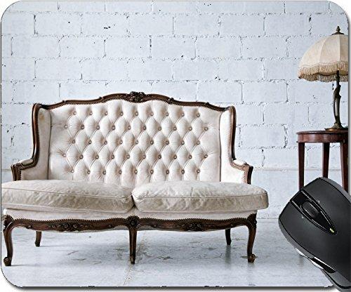 Msd Natural rubber mouse pad mouse padtappetino design 14899780bianco in vera pelle stile classico divano in vintage Room con lampada da scrivania