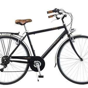 Via Veneto by Canellini Bicicletta Bici Citybike CTB Uomo Vintage Retro Via Veneto Acciaio Nero Taglia 54