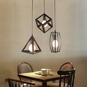 HomeNeat Ellisse Shape LED Ciondolo soffitto sospesa lampada cromo Illuminazione Faretti Proiettore 3 luce in 1 Piano Cottura di giro d138 X L47  Monte rotondo