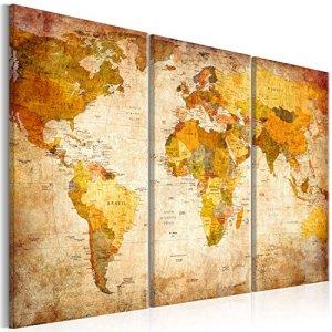 murando Quadro 120x80 cm  3 Parti  Quadro su tela fliselina  Stampa in qualita fotografica  Mappa del Mondo 0202132 120x80 cm
