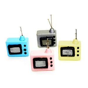 qingqingR Scala 112 Casa delle Bambole in Miniatura Televisione Vintage TV con Antenna Casa delle Bambole Accessori Soggiorno Decorazioni per la casa Consegna Casuale