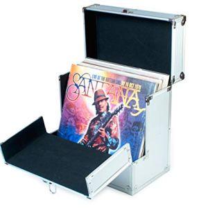 Retro Musique Aluminium 12 contenitore IN VINILE LP con risvolto frontale pieghevole unico per un migliore accesso ai vostri LPs