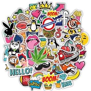 100 Adesivi stickerbomb Graffiti MacBook iPhone Skateboard Decalcomanie in Vinile Decalcomanie Pop Art Adesivi Assortiti Pacco Snowboard Valigia valigie iPhone Adesivi paraurti Bici Auto Bomb Pack