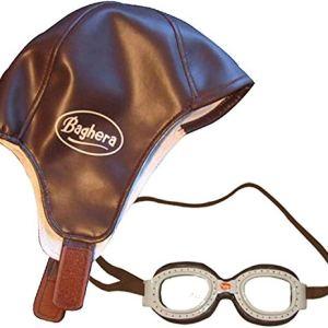 Baghera Set Cappello Pilota Bambino e Occhiali Pilota Bambino  Cappello e occhiali stile aviatore per bambini vintage  Set berretto e occhiali aviatore per bambini a partire da 3 anni det