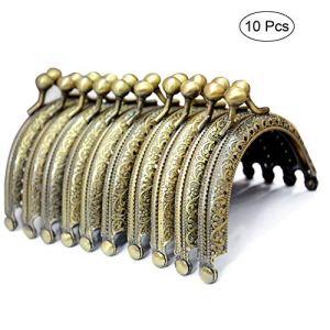 BROADREAM Chiusure di BorsaPortafoglioChiusure Clasp para Portafoglio Borsa a Mano10 Pezzi 85cm DIY Borsetta Vintage Accessori Maniglia per Borse